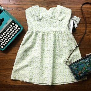 NWT Kensie Lily Pad Eyelet Dress